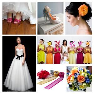bruids- schoeunen jurk haar styling boeket linten bruiloft trouwen ideeen tips