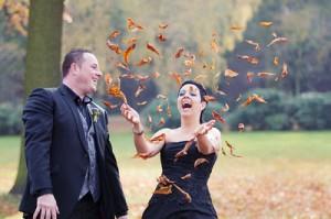 bruiloft ideeën alternatieven gooien rijst bladeren